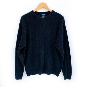 Dockers Chenille Crew Neck Royal Blue Sweater sz L